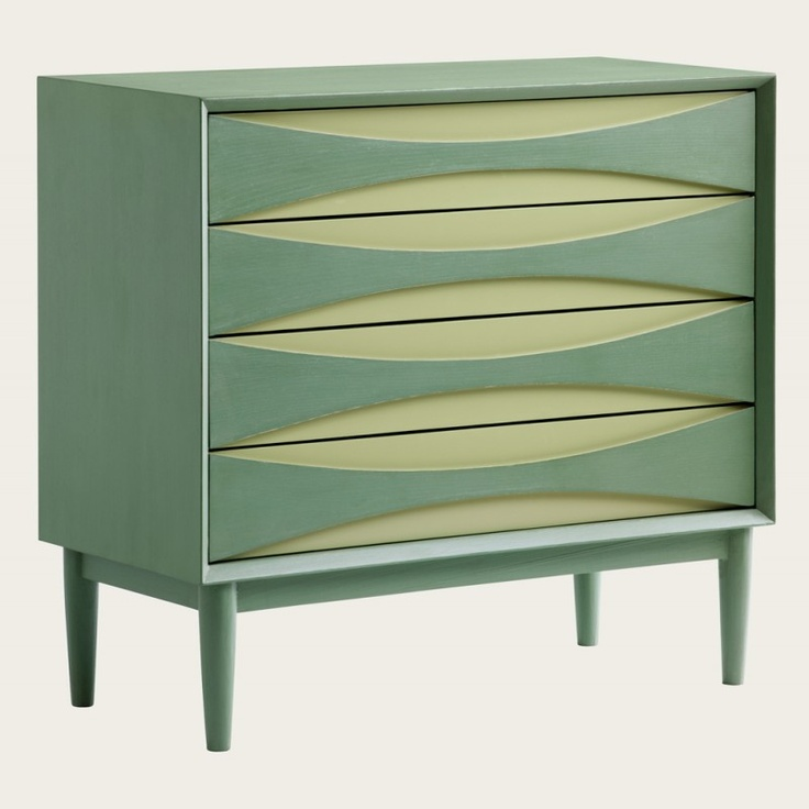 Chest of four drawers in two tone