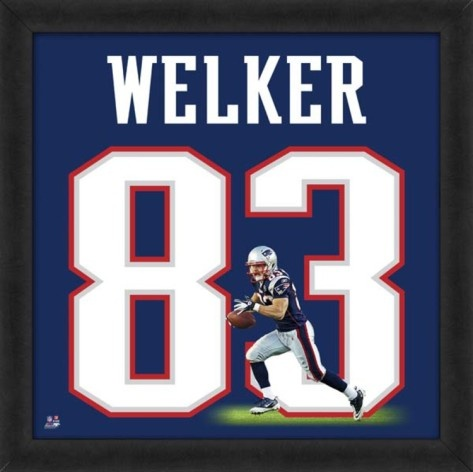 Wes Welker, Patriots representation of the player's jersey Framed Memorabilia at AllPosters.com