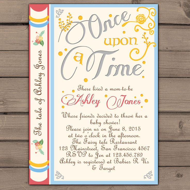 once upon a time baby shower invitation shower invite gender neutral