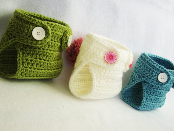 CROCHET Baby PATTERN Diaper Cover with BONUS Pom-Pom bunny/bear tail (5 sizes included) Instant Download via Etsy