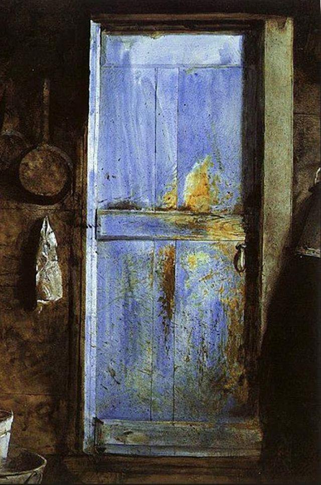 Andrew Wyeth Blue Door Detail