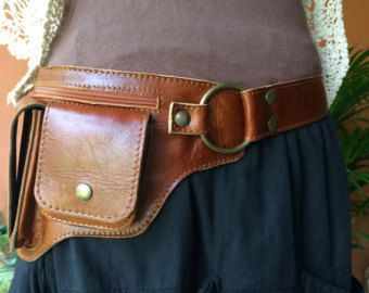 Steampunk Utility Belt Leather Belt Bag door ThaiArtistCollective