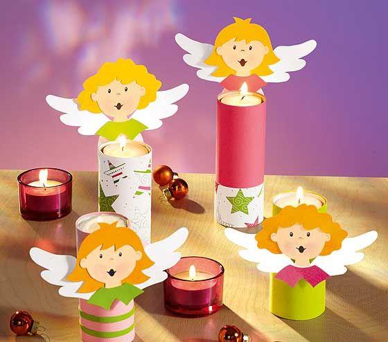 tischdeko engel f r die weihnachtstafel engel tees und basteln. Black Bedroom Furniture Sets. Home Design Ideas