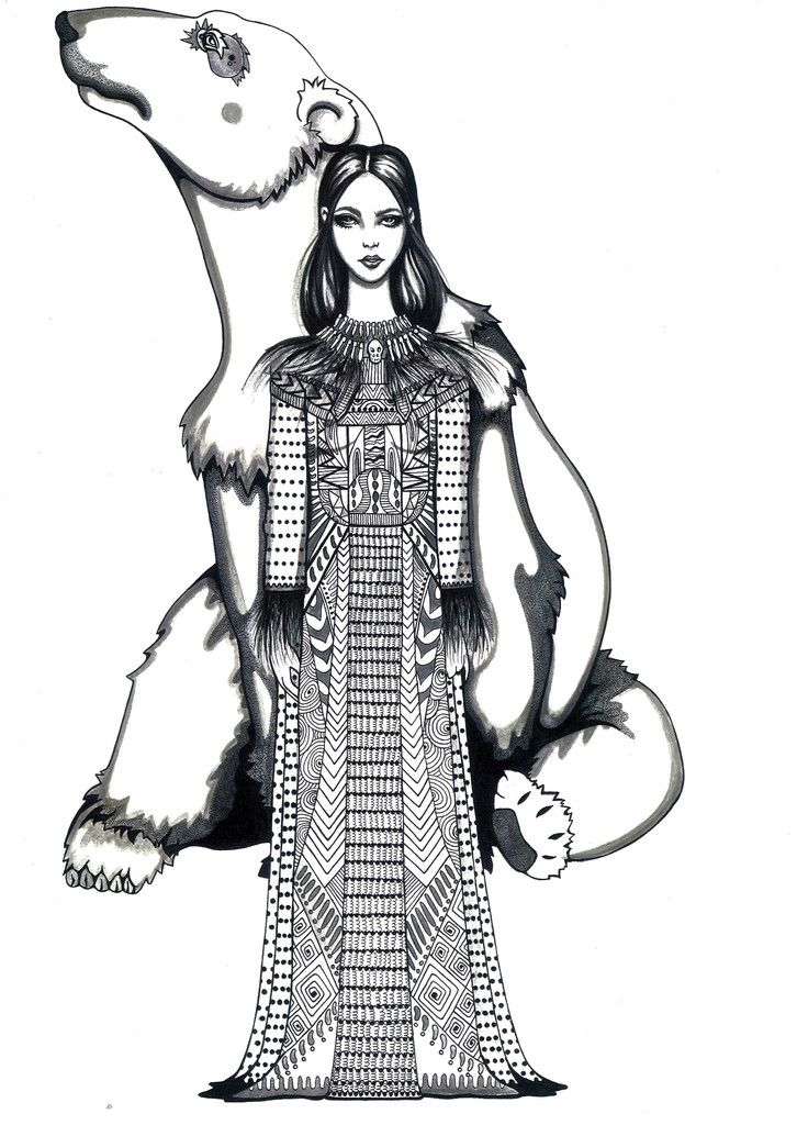 Kunst plakat // Limited edition art print // 'Ice Queen' by Ida Svenungsson