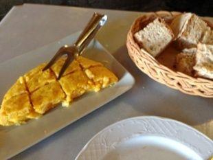 O Puntal, tortilla de patatas en Cedeira