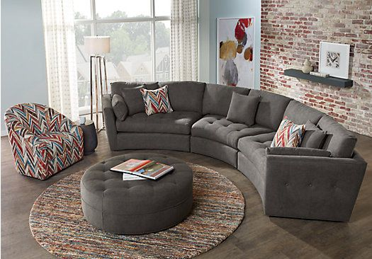 picture of Cindy Crawford Home Arbor Park Granite 4 Pc Sectional Living Room from Living Room Sets Furniture