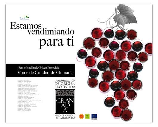Campaña de Publicidad Vinos de Granada.  Estamos vendimiando para tí.