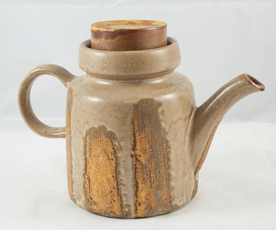 Magnifique théière vintage de poterie de Beauce pour votre thé