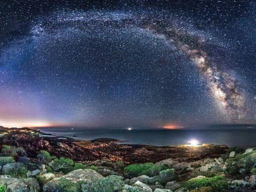 Lo spettacolo della Via Lattea nei cieli della Sardegna