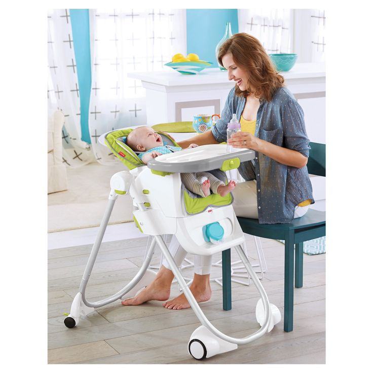 This versatile high chair can juggle all kinds of functions with ease, just like a new parent. It's a full-size high chair with recline … a removable SpaceSaver high chair that fits most dining chairs … a toddler booster to bring little ones to the big kid table … and a youth chair that's easy to roll into place! You can even use it with two kids at once - seat one child in the youth seat and another in either the SpaceSaver high chair or b...