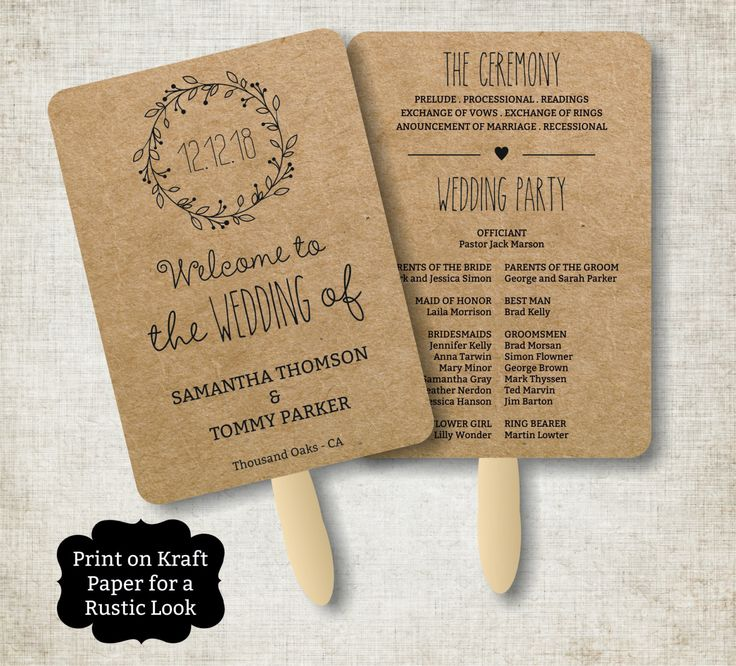 Best 25+ Wedding Program Templates Ideas On Pinterest | Fan