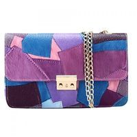 Fashion Chain and Patchwork Design Crossbody Bag For Women