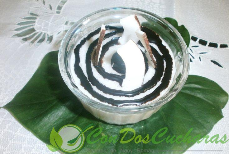 ConDosCucharas.com Cuajada de coco y chocolate - ConDosCucharas.com