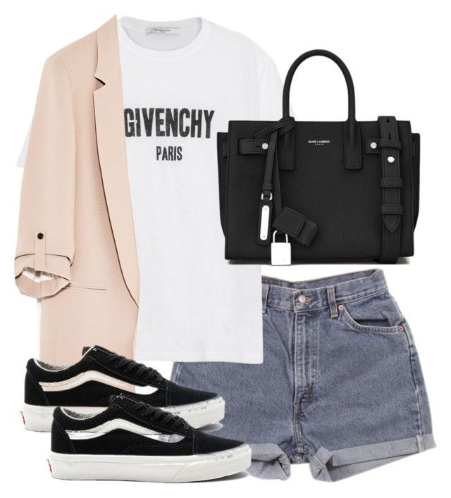 """Untitled #3560"" by theeuropeancloset on Polyvore featuring Levi's, Givenchy, Yves Saint Laurent and Vans"