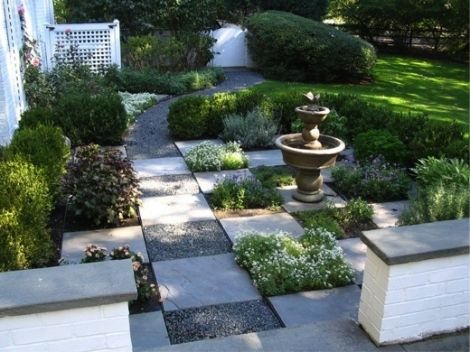 Checkerboard Garden Path