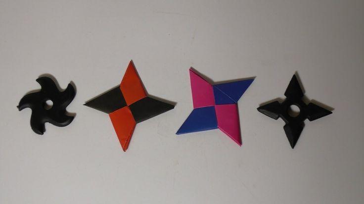 Оригами из бумаги для детей летающий сюрикен своими руками