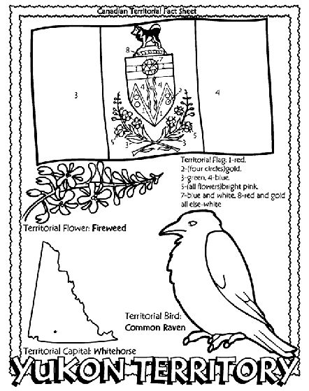 Canadian Territory – Yukon Territory coloring page…