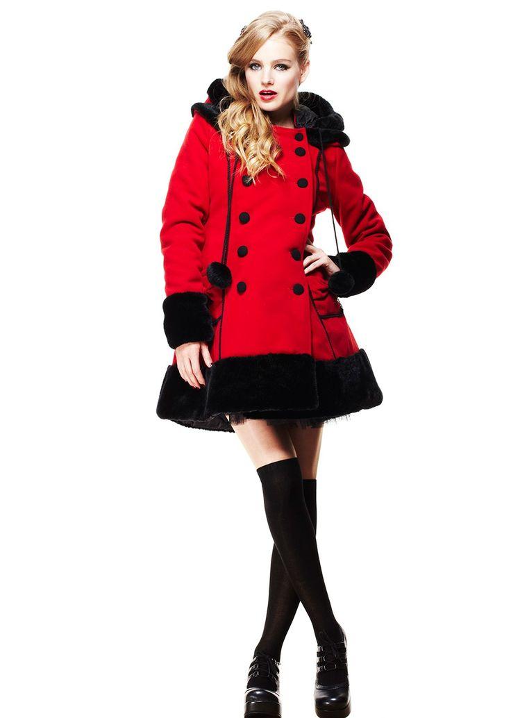 Manteau femme Sarah Jane - Rouge - Hell Bunny