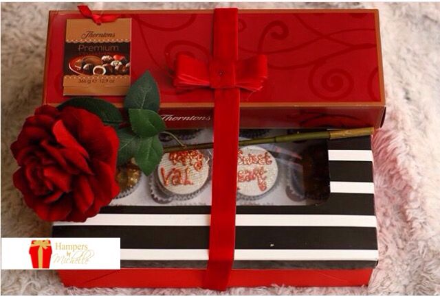 #throwback Thornton's Chocolate x Cookie Jar Cupcakes + HamperbyMichelle signature touch. Your gift doesn't have to be expensive to look beautiful #valentines2016