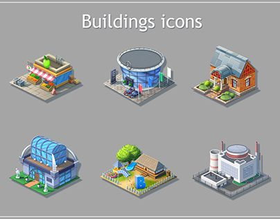 """Check out new work on my @Behance portfolio: """"Buildings icons for game"""" http://be.net/gallery/33867578/Buildings-icons-for-game"""