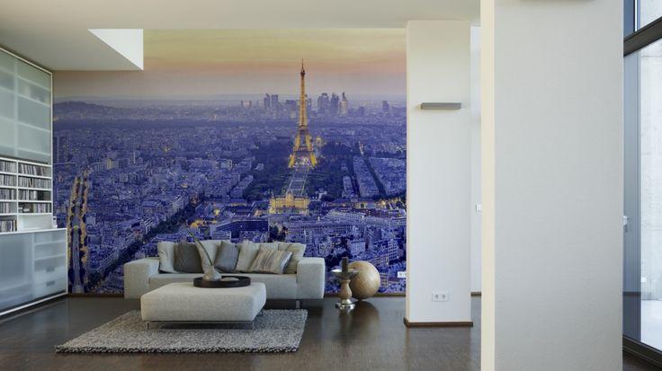 Fabulous Paris im Wohnzimmer mit der Fototapete aus der Kollektion AP Digital Architects