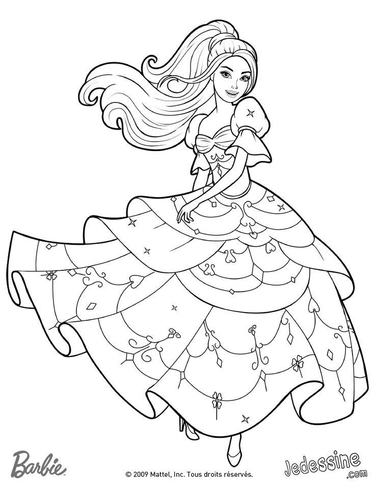 Coloriage Barbie à colorier - Dessin à imprimer | Barbie coloring pages, Cute coloring pages ...
