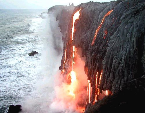 Volcanoes National Park ~ Big Island. Lava meets the sea at one of the Big Island's most exciting natural wonders.