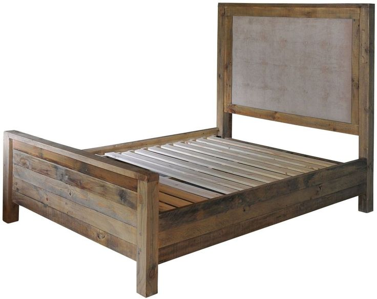 rowico rustica pine 5ft king size bedstead with quilted headboard
