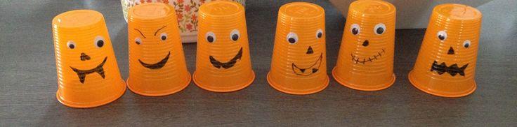 Bonhommes gobelets halloween