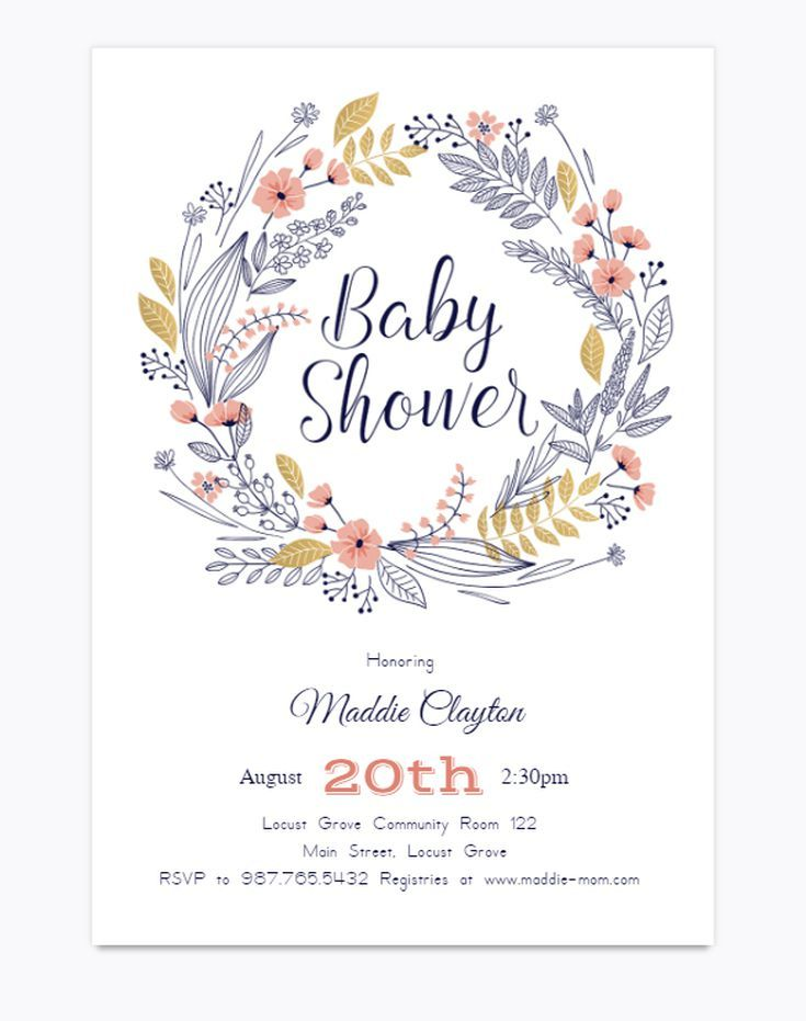 17 Free And Adorable Printable Baby Shower Invitations
