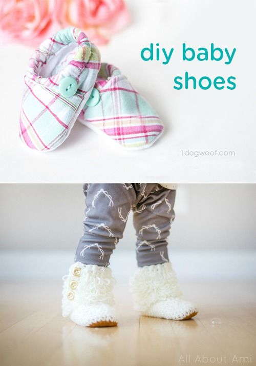 This collection of 8 cute DIY baby shoes, slippers, and booties is a fun way to liven up your child's outfits and keep her little toes warm. This is also a great way to keep up with those fast growing feet!