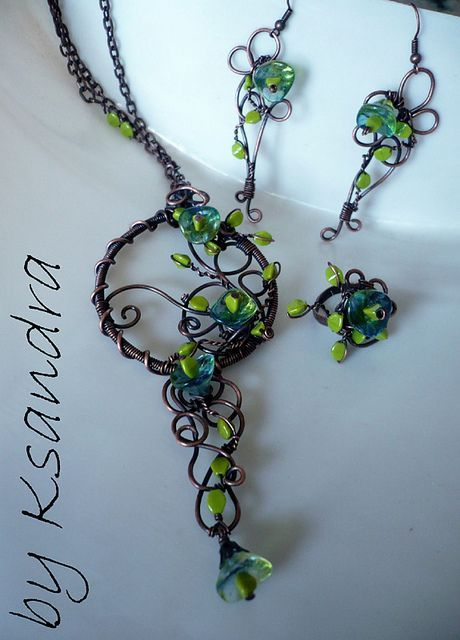 idea to do with beaded grape clusters