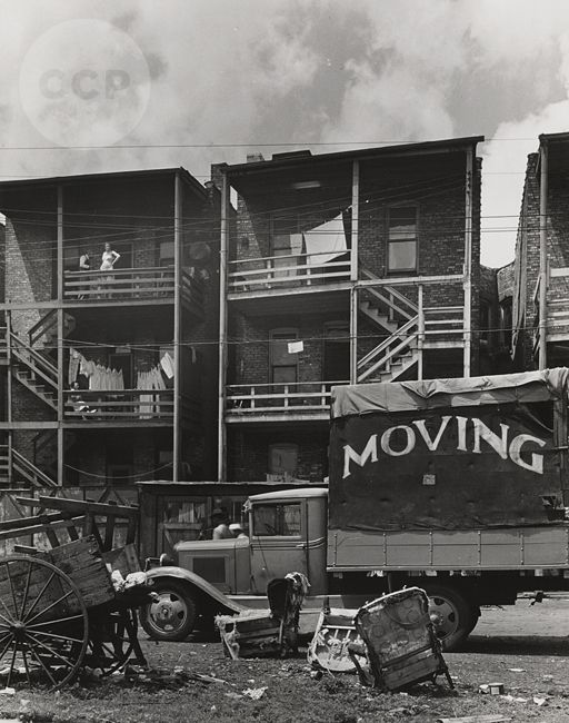 Chicago Slums | Chicago, Slums Along South Side Division Elevated near 47th Street ...