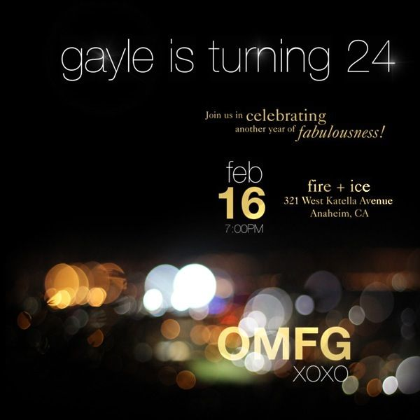 GG inspired invitation! Customize it for a Bridal Show. Add an XOXO even make the invitation a Gossip Girl Blast.