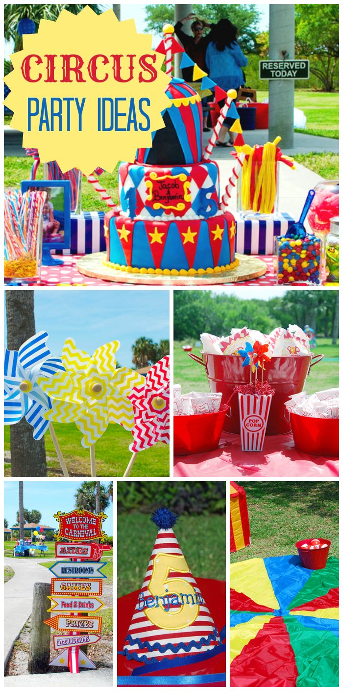 Best Carnival Ideas Images On Pinterest Carnival Parties - Circus birthday party ideas pinterest