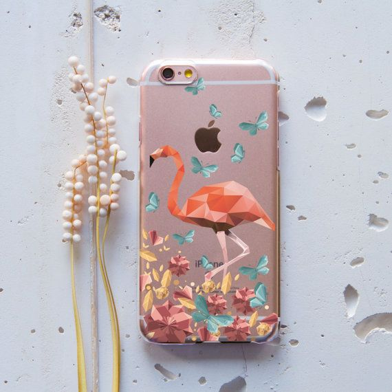 Geometric iPhone Case Pink iPhone 6 Case Flamingo от WolfCases