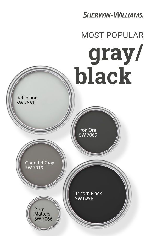 Popular Gray Black Paint Colors In 2020 Black Paint Color Paint Colors For Home Exterior Paint Colors For House
