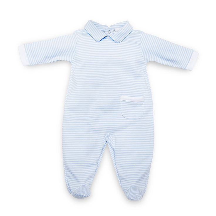 Kissy Kissy Blue Stripe All-in-one with Collar