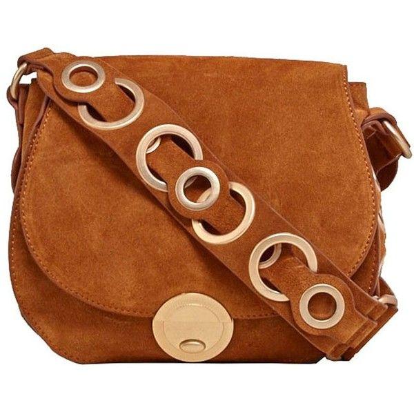 Foley & Corinna Megan Saddle Bag ($328) ❤ liked on Polyvore featuring bags, handbags, shoulder bags, dark brown, dark brown handbags, brown leather purse, brown shoulder bag, saddle bags and leather handbags