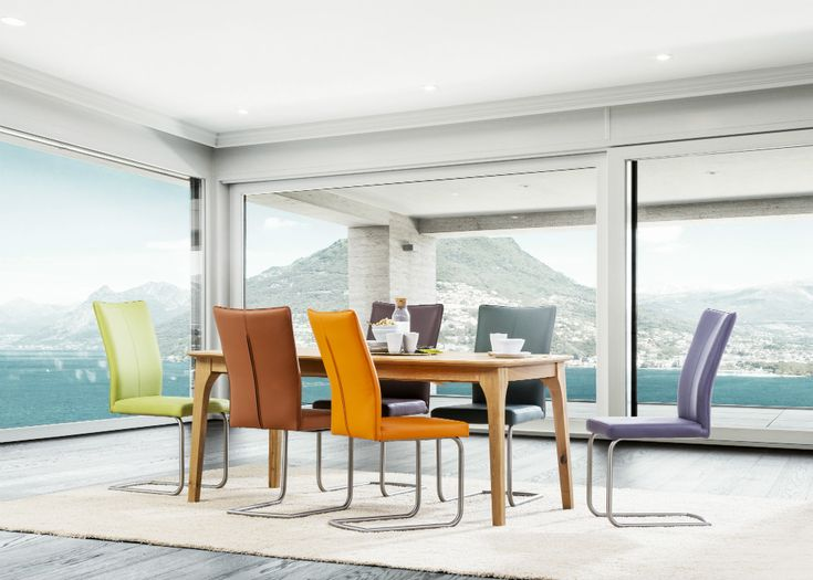When your need more colours in your dining room - S64 chairs and Tommy table #KloseFurniture #modernchair #diningroom