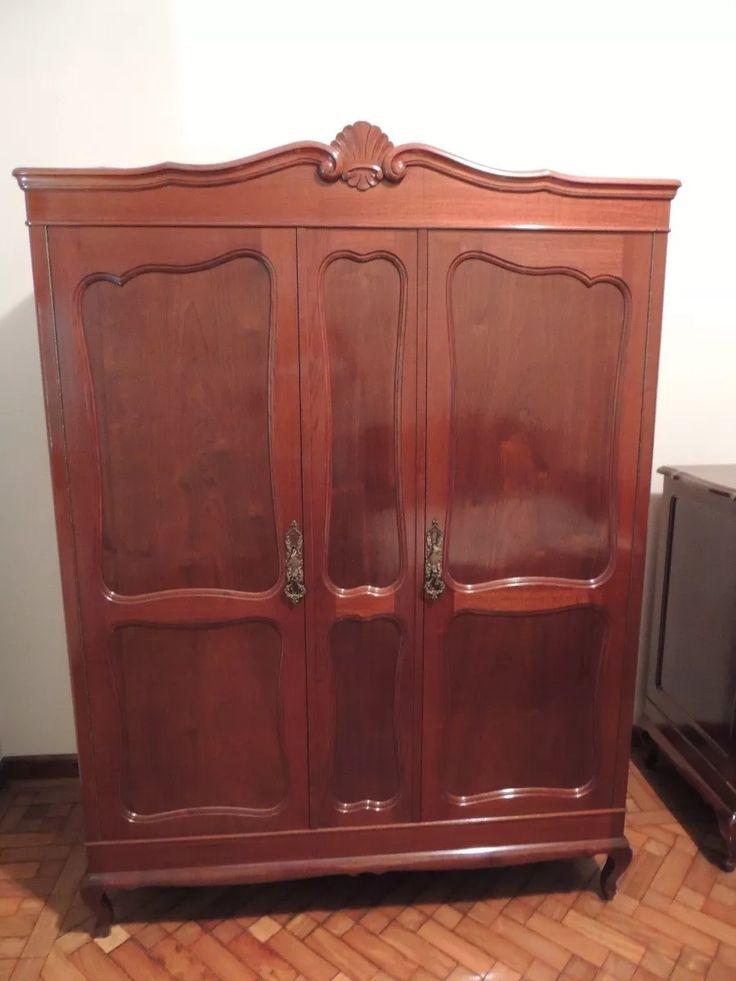 antigo armário guarda roupa luiz xv imbuia maciça provençal