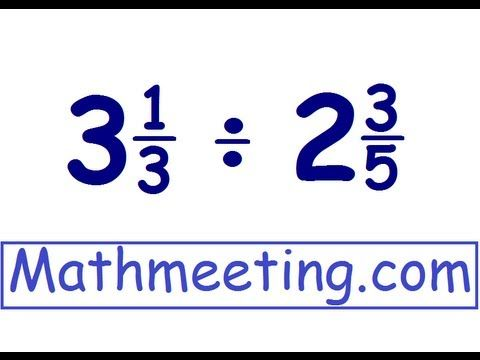 Dividing mixed numbers, step by step, example. For all free math videos visit http://Mathmeeting.com.