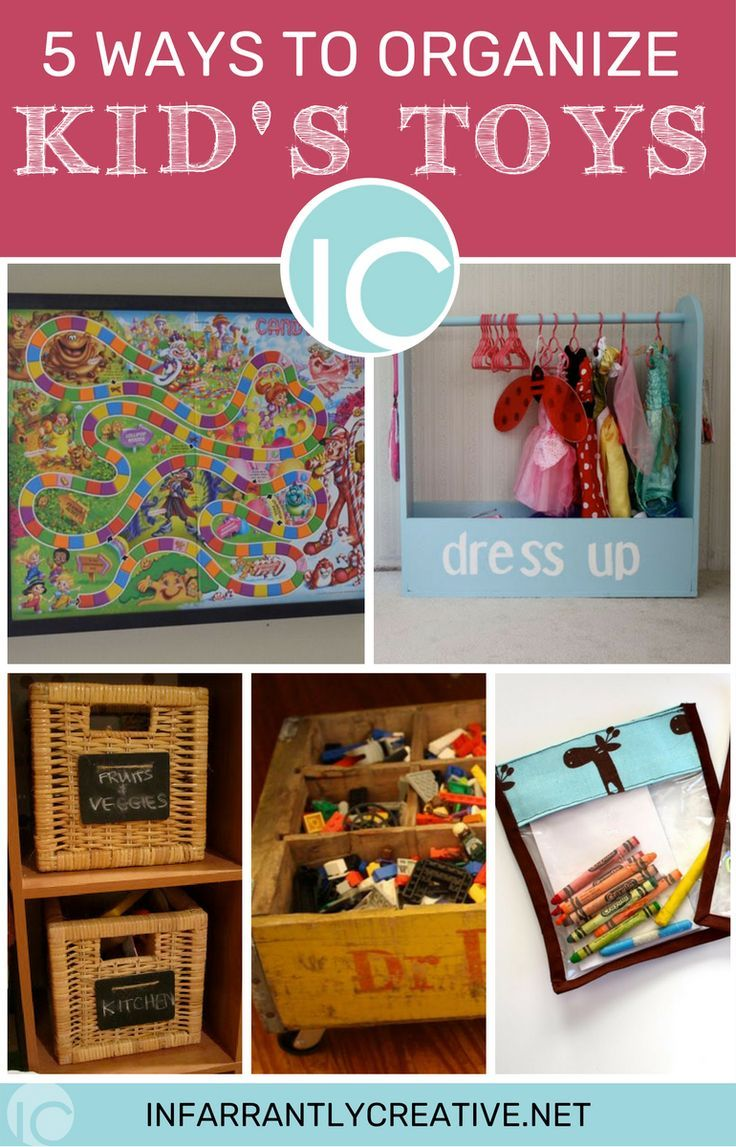 5 Ways to Organize Kid's Toys! You may want to pin this for after the holidays! #organizetoys #diyorganization #organization