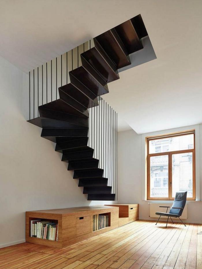 escalier suspendu escaier flottant mtallique et sol
