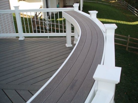 "Great idea! Put a bar rail on the deck for some  extra ""table top"" space for cookouts and parties."