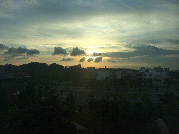 Sunset over Malaysia....