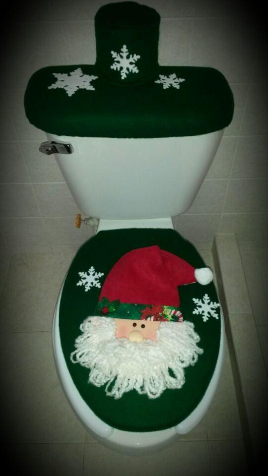 Juego de baño verde Santa