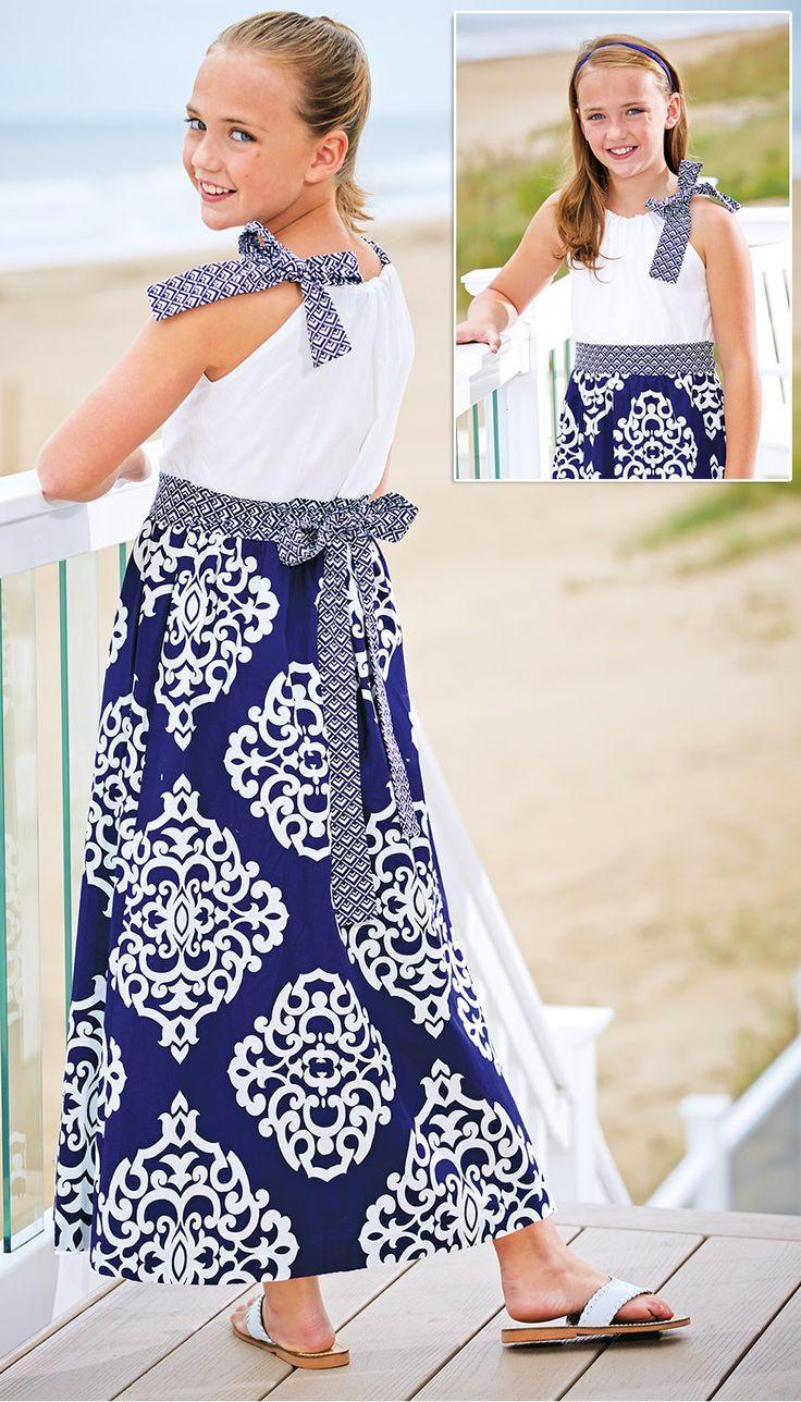 From CWDkids: Baroque Print Maxi Dress