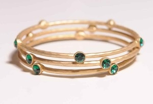 bangles: Jewelery, Stones, Products, Green Stone, Gold Bangles