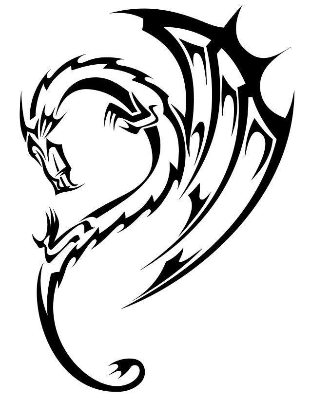 Басни крылова, картинка дракона черно белая